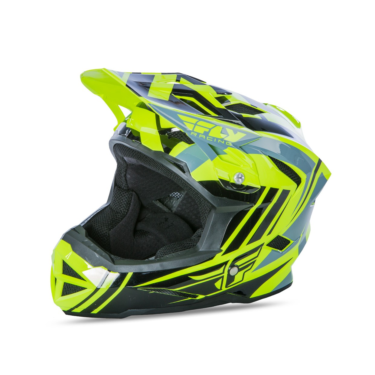 Fly Racing Helm Default MTB hi-vis-schwarz