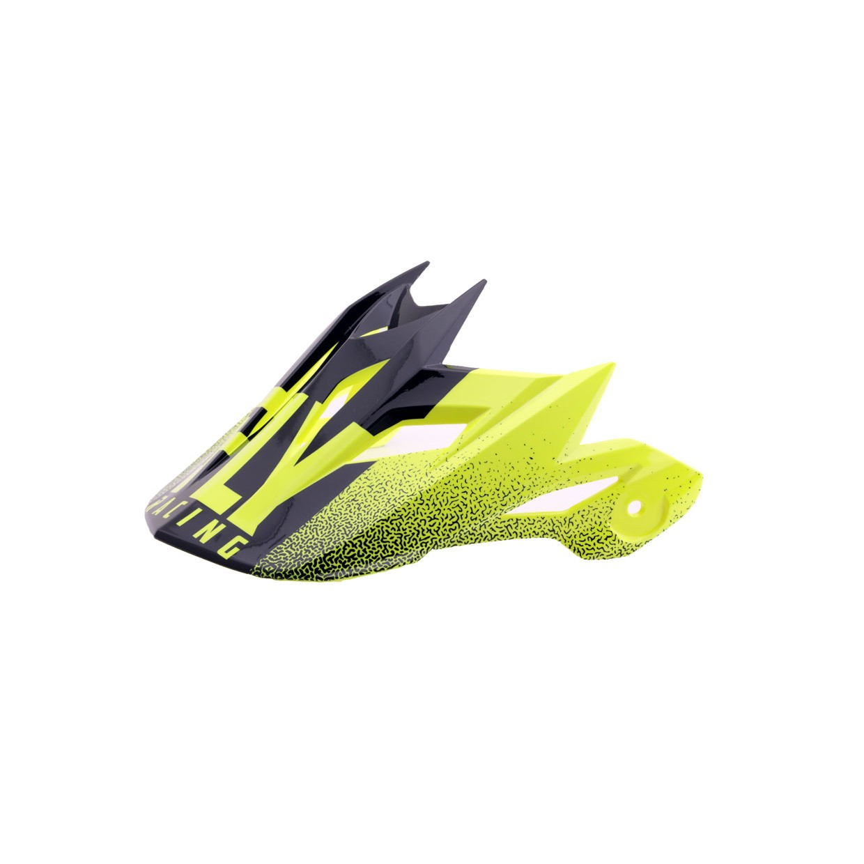 Fly Racing Helmschild Default hi-vis-gelb