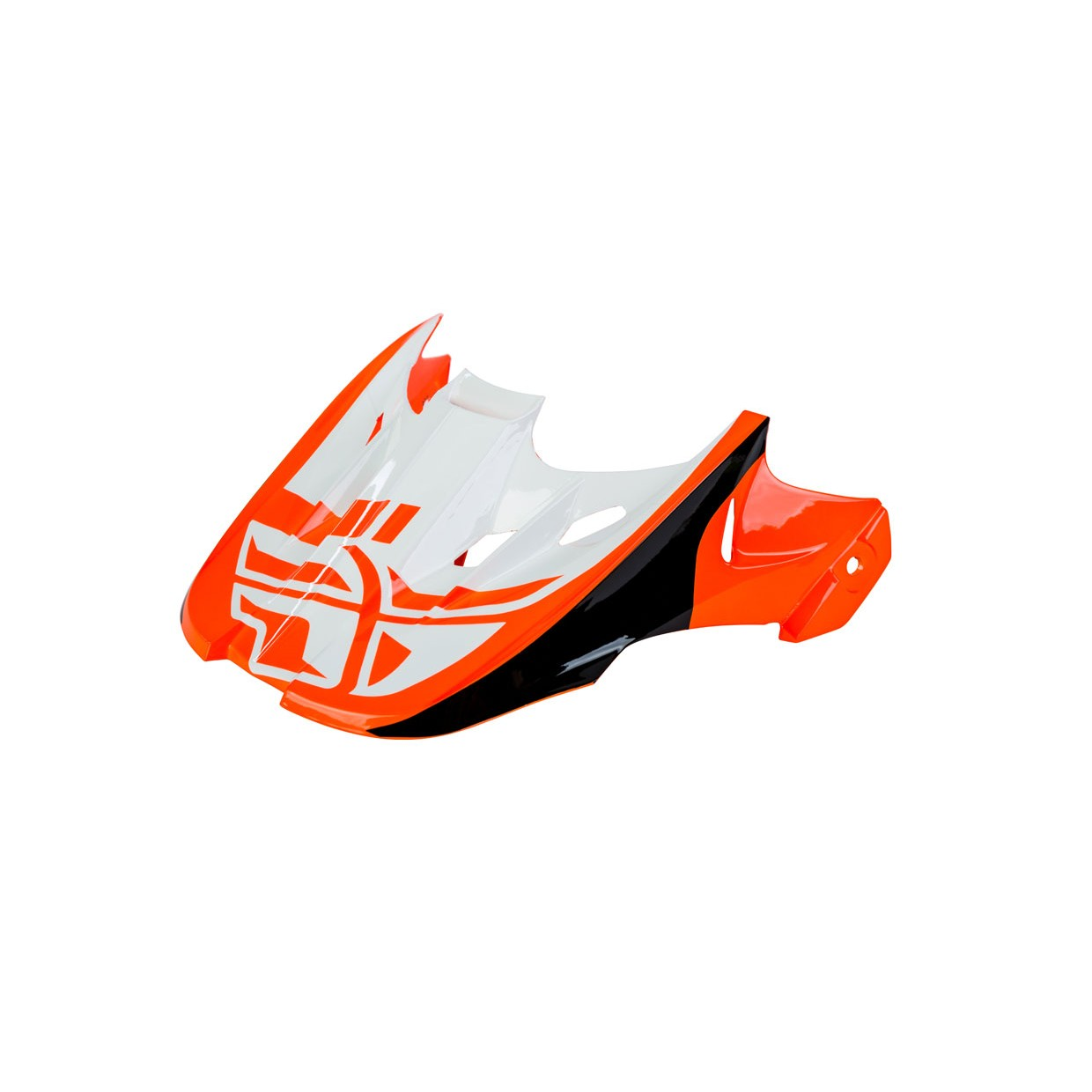 Fly Racing Helmschild Kinetic Sharp orange-schwarz