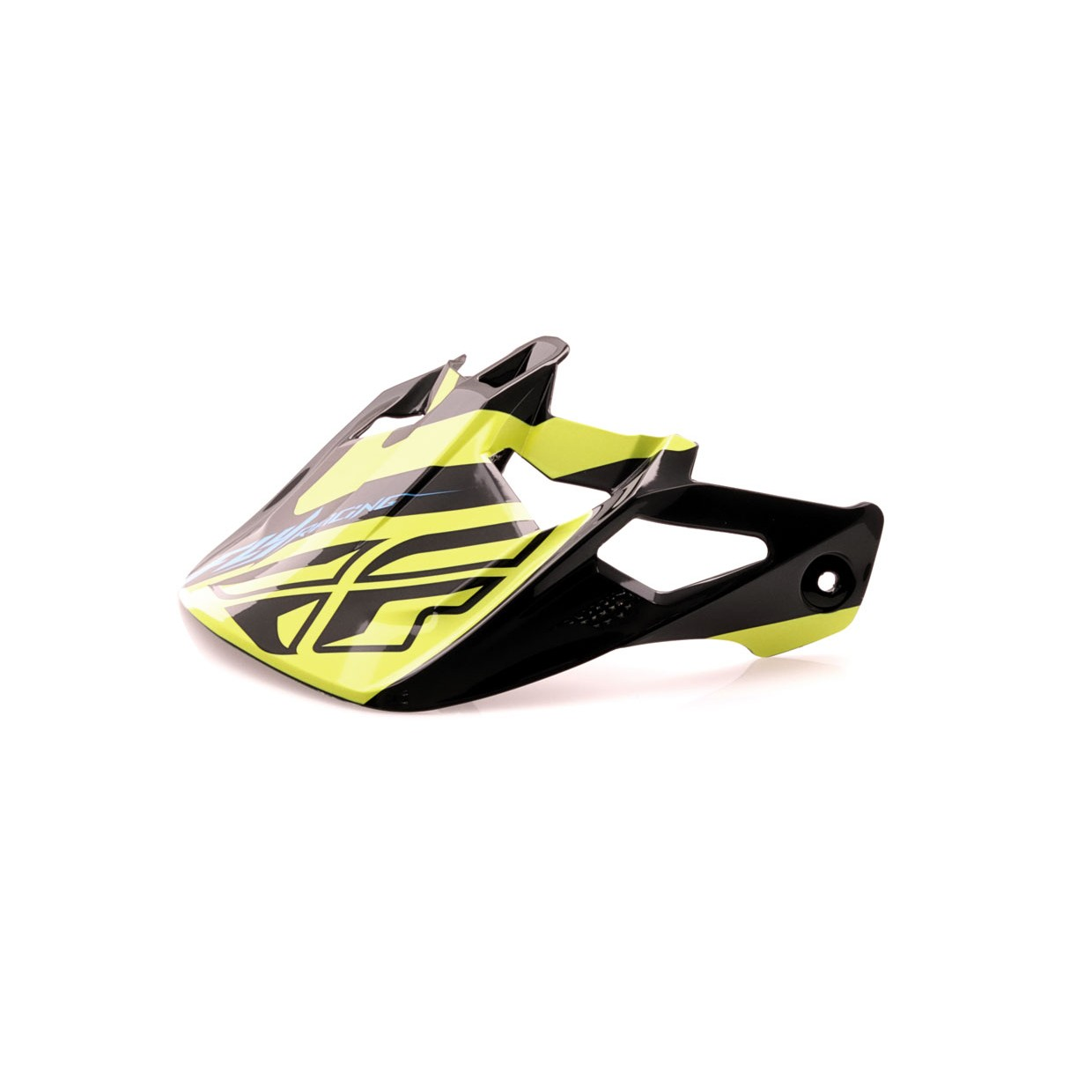 Fly Racing Helmschild Werx Ultra schwarz-hi-vis