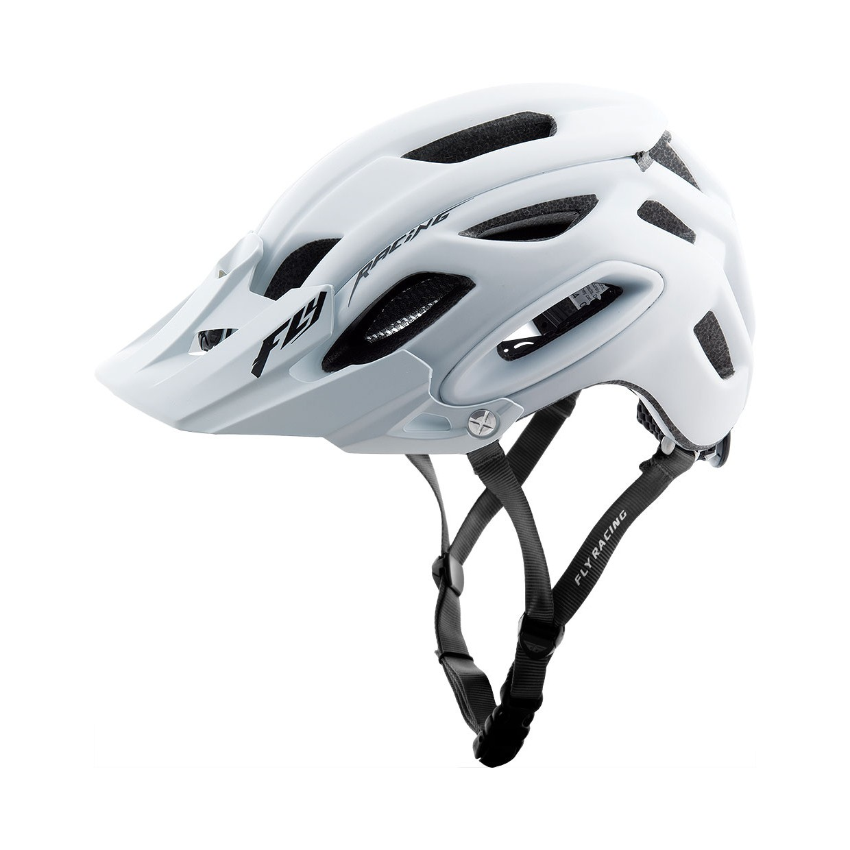 Fly Racing MTB Helm Freestone matt-weiß