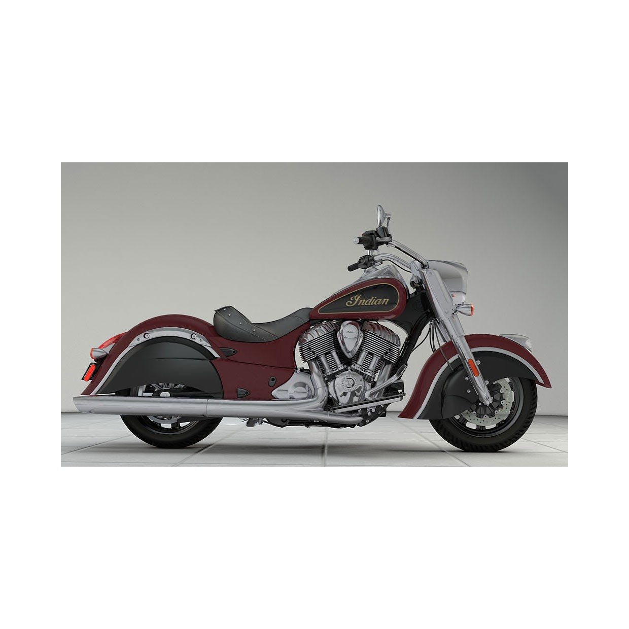 INDIAN Chief Classic Burgundy/Thunder Black