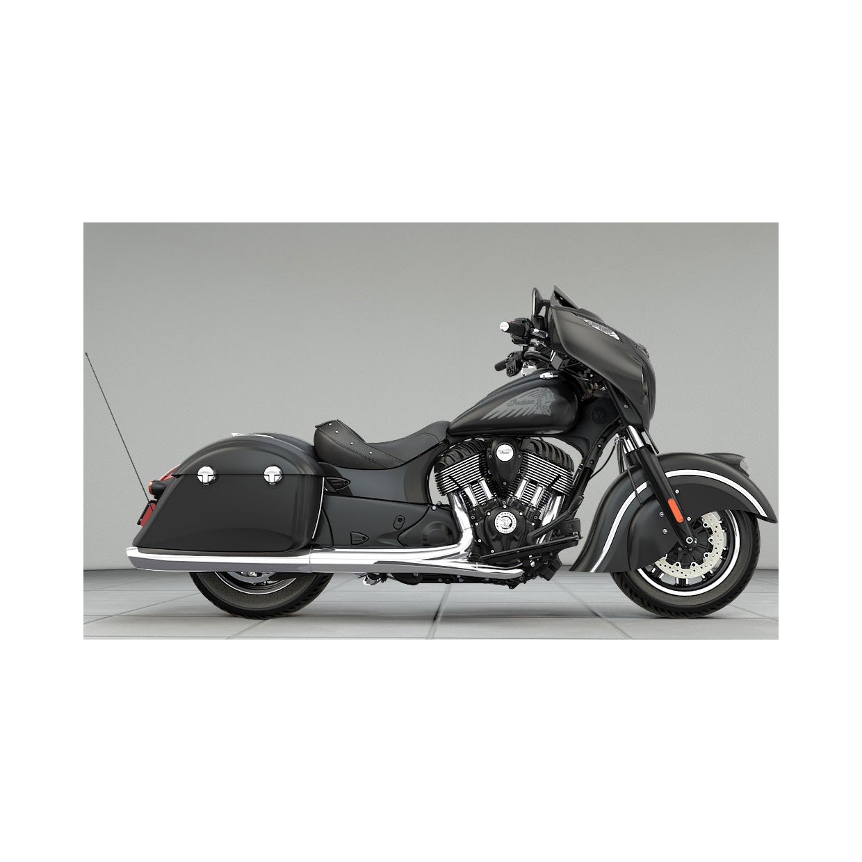 INDIAN Chieftain Nite Darkhorse Black Smoke