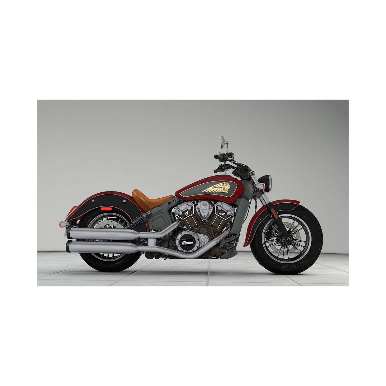 INDIAN Scout Indian Red/Black