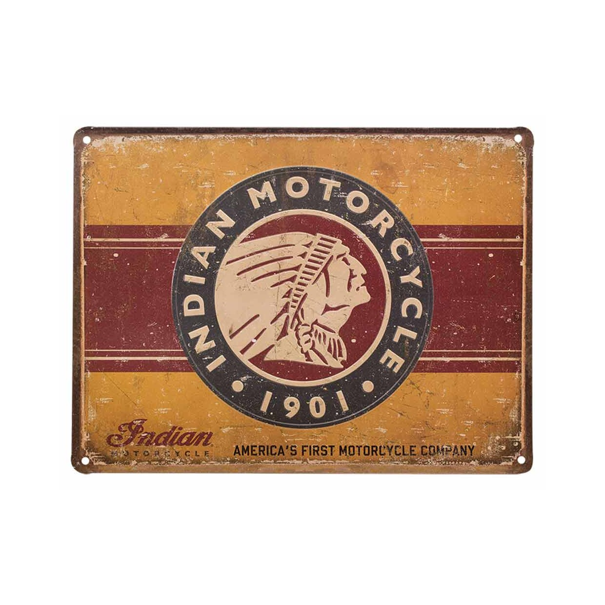Indian Metallschild First Motorcycle 40x30cm