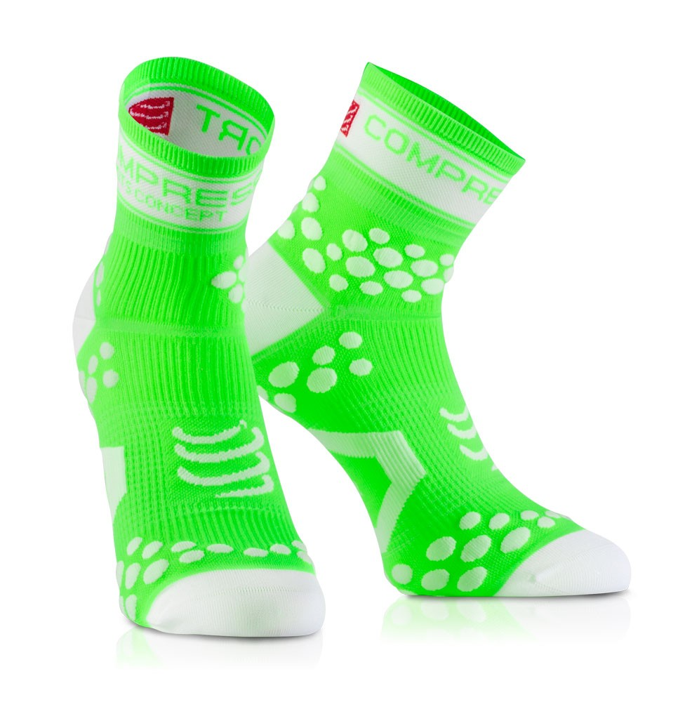 Compressport Racing Socks V2 fluorgrün