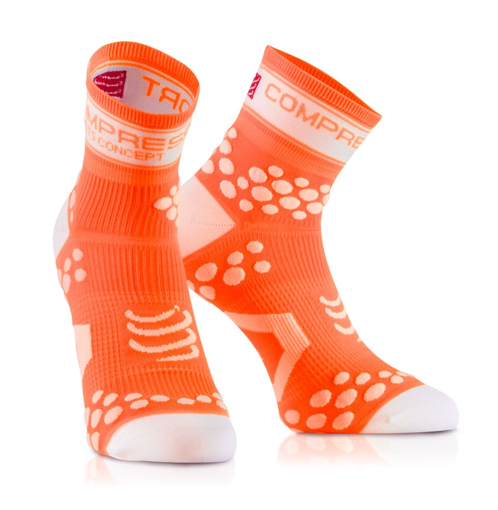 Compressport Racing Socks V2 fluororange