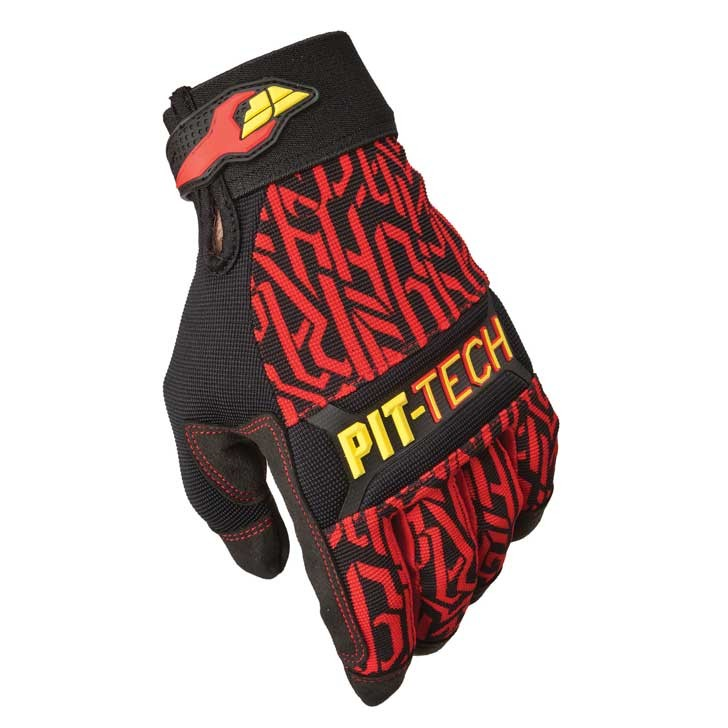 Fly Racing Handschuhe Mec Pit Tech Pro rot