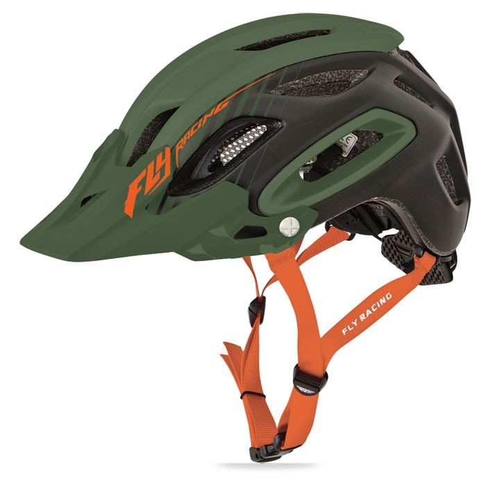 Fly Racing Helm Freestone matt-grün-orange