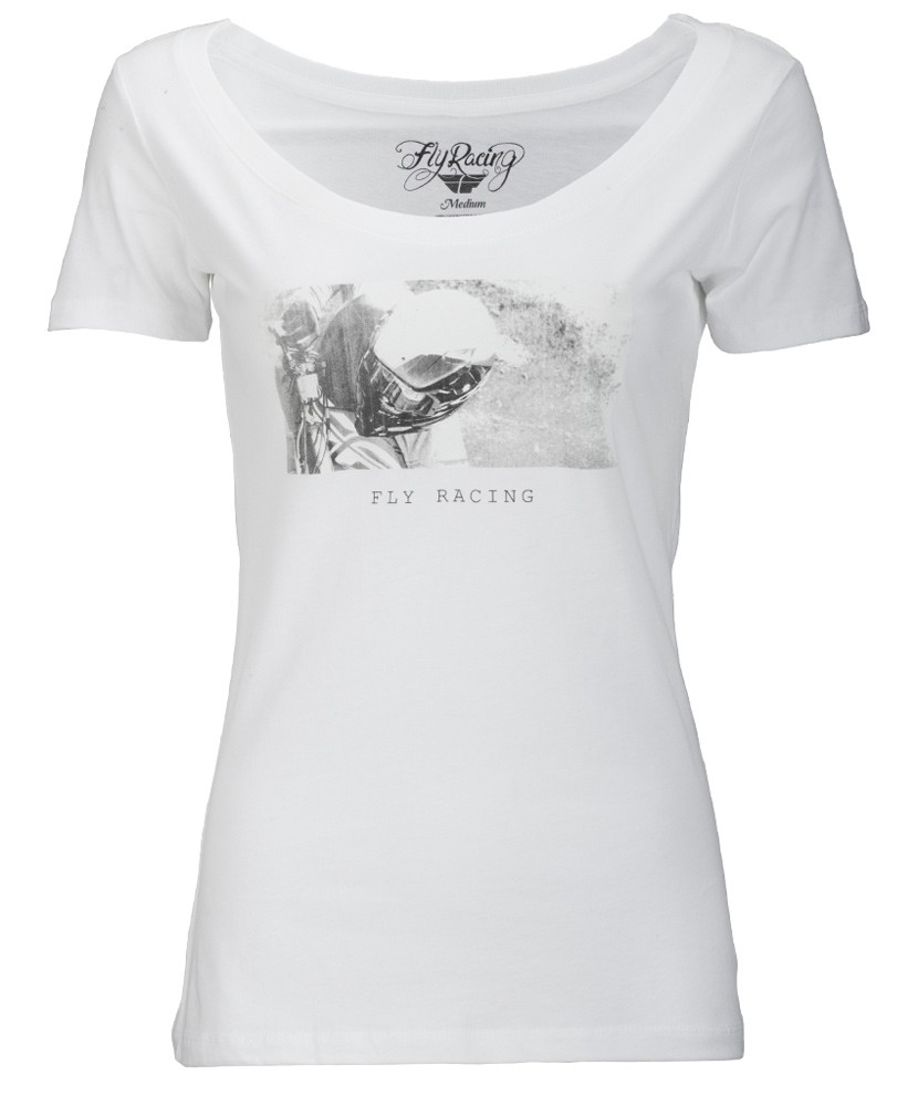 Fly Racing T-Shirt Credit Lady weiß