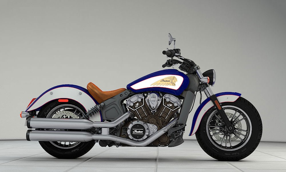INDIAN Scout Indian blau/weiß/rot