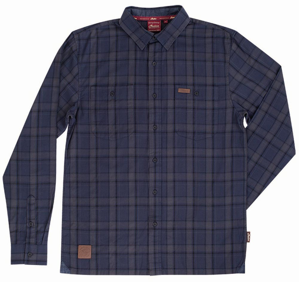 Indian Mens Navy Plaid Shirt