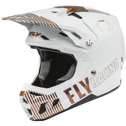 Fly Racing Helm Formula CC Primary L.E. weiß-copper