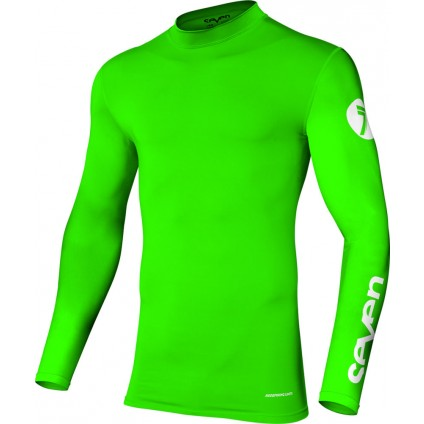 Seven Hemd Zero Compression flo green