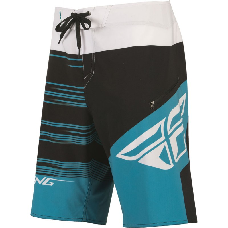 Fly Racing Board Short Influx blau-sw-weiß