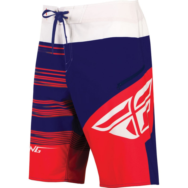 Fly Racing Board Short Influx rot-blau-weiß