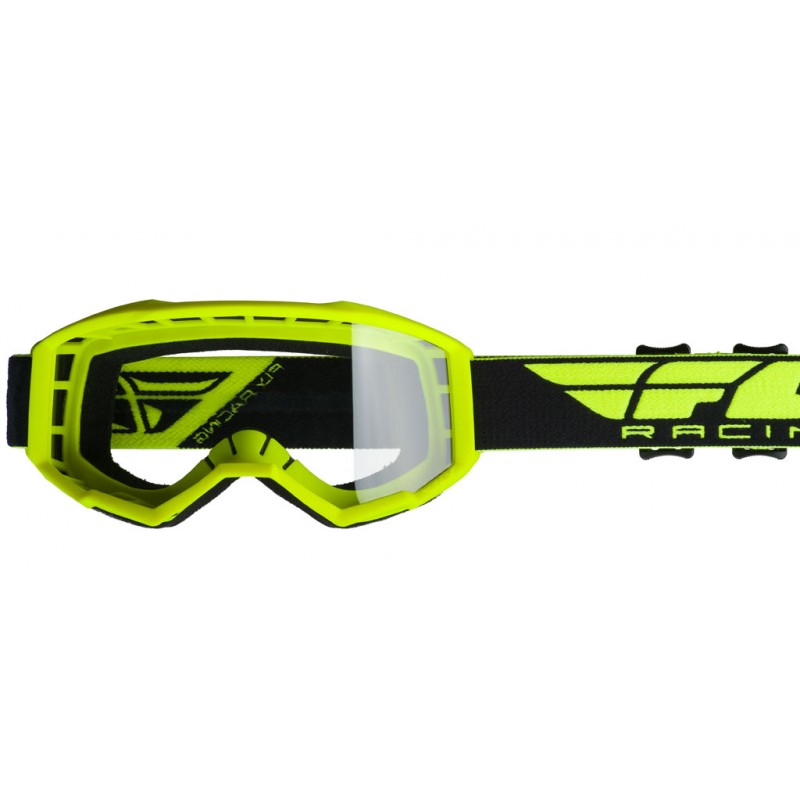 Fly Racing Brille Focus Kids hi-vis-gelb
