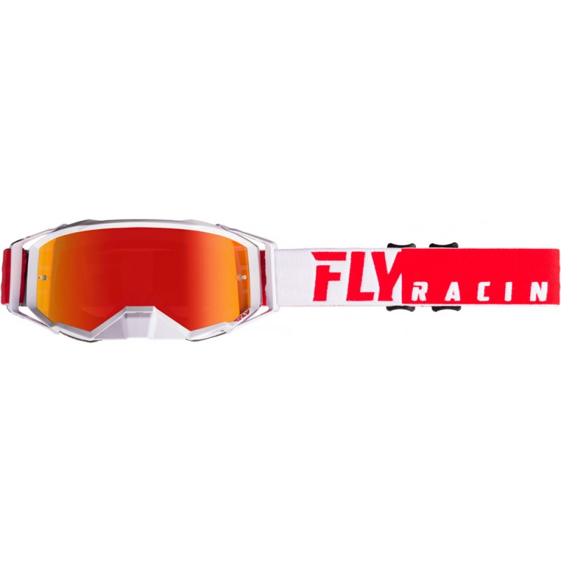 Fly Racing Brille MX Zone Pro rot-weiß / rot mirror