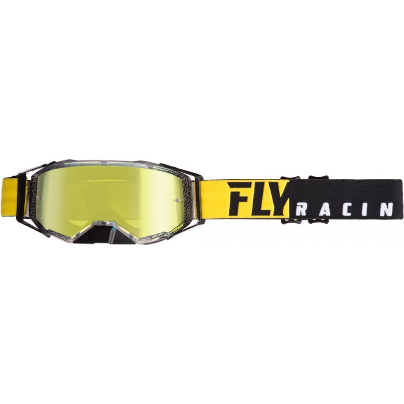 Fly Racing Brille MX Zone Pro schwarz-gelb / gold-smoke