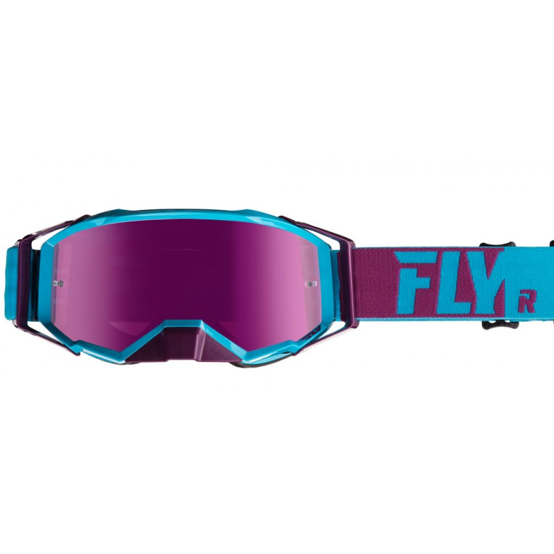 Fly Racing Brille Zone Pro blau-port / pink-mirror-smoke