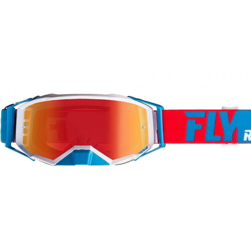 Fly Racing Brille Zone Pro rot-weiß-blau / rot-mirror-clea