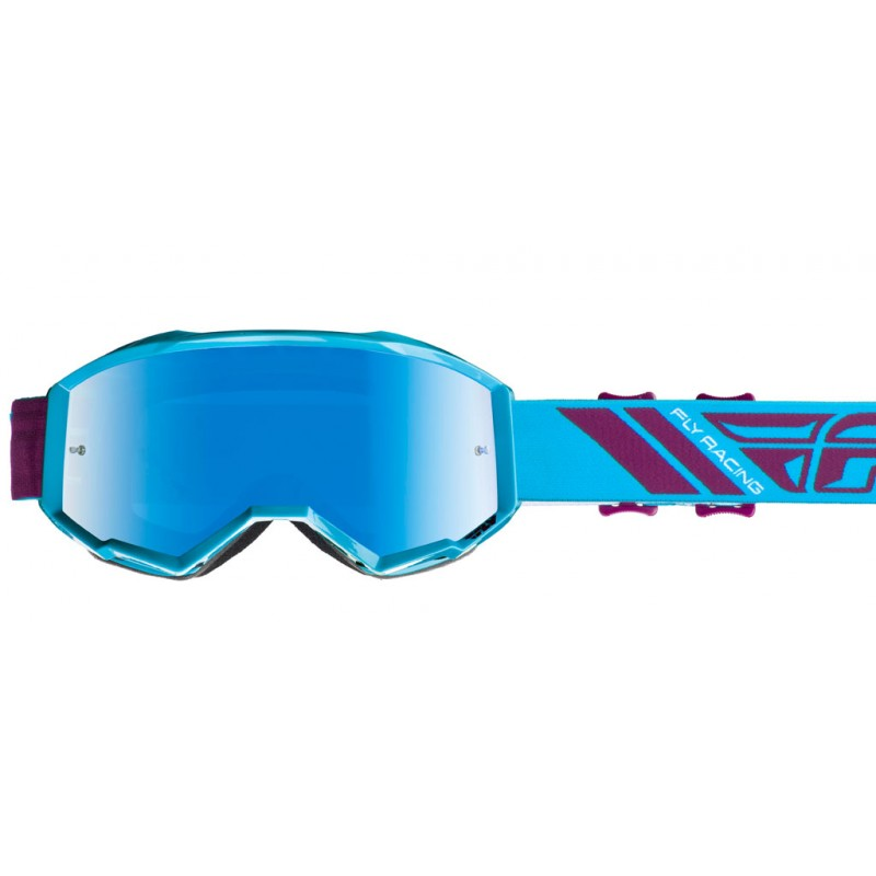 Fly Racing Brille Zone blau-port / blau-mirror-smoke