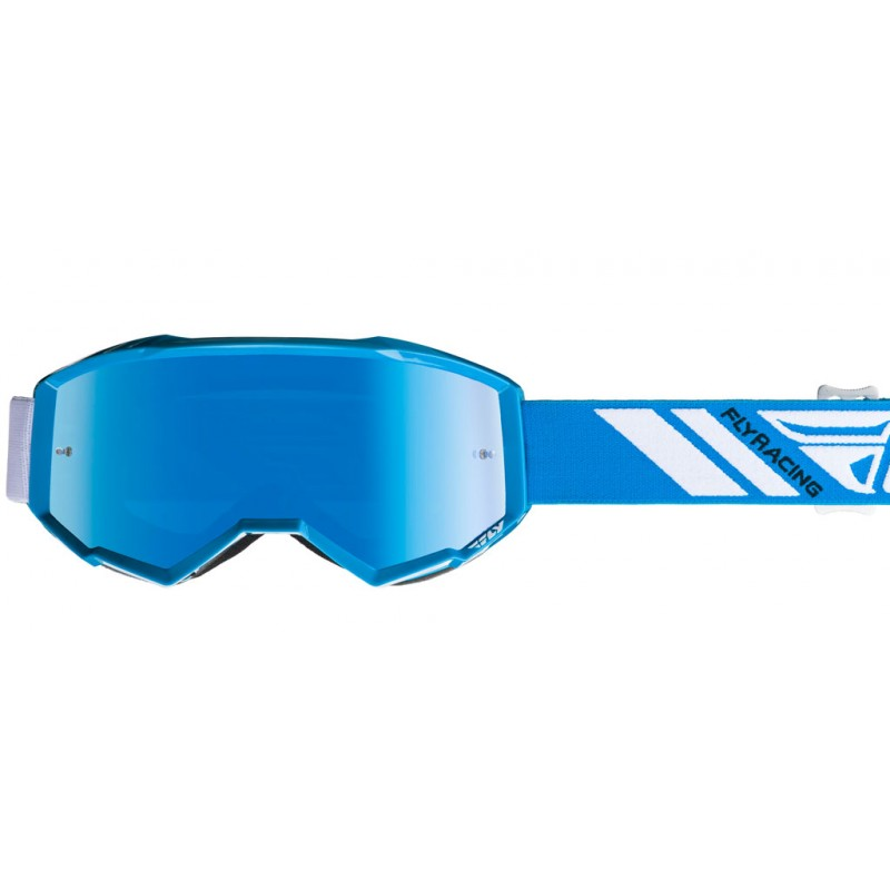 Fly Racing Brille Zone blau / sky blue-mirror-smoke