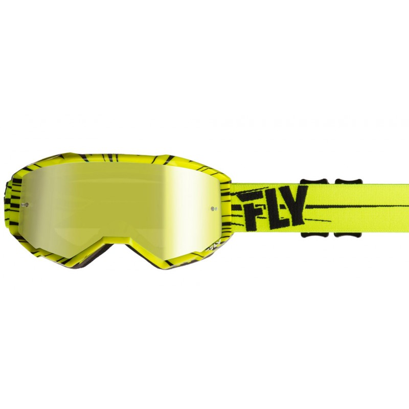 Fly Racing Brille Zone hi-vis-schwarz / gold-mirror-smoke