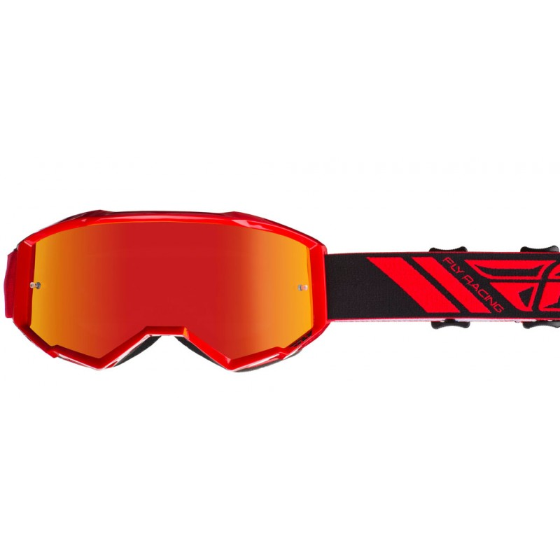 Fly Racing Brille Zone rot / rot-mirror-smoke