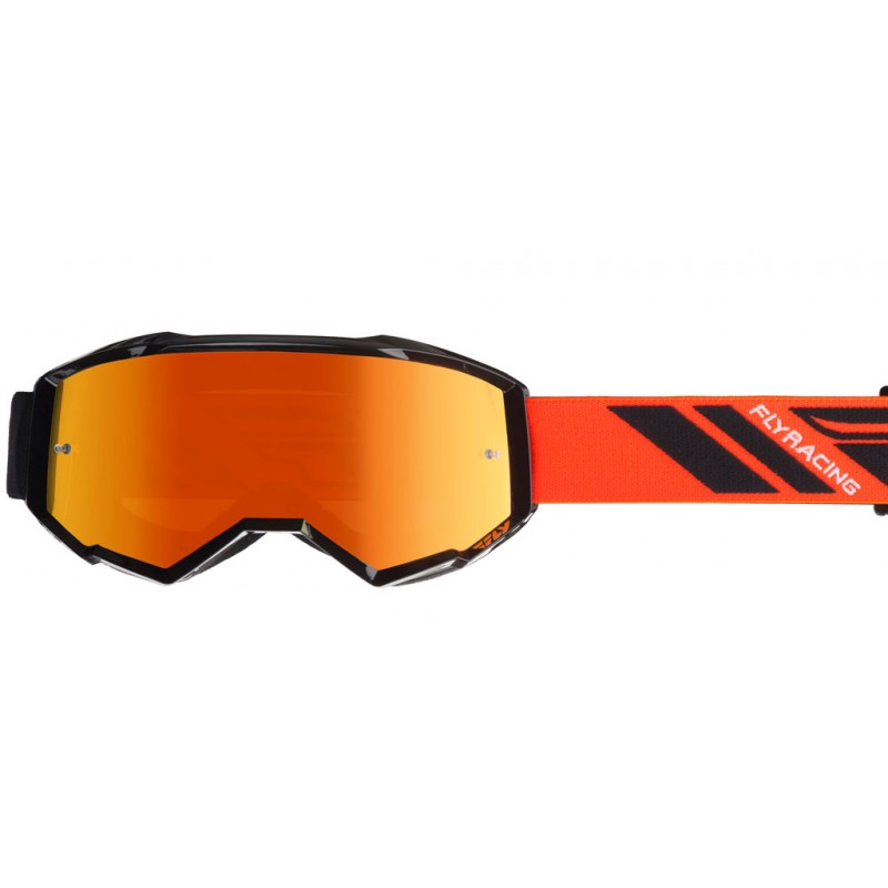 Fly Racing Brille Zone schwarz-orange / orange-mirror-smoke