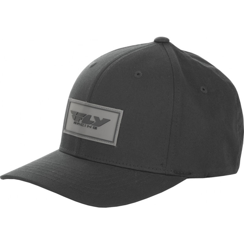 Fly Racing Cap Stock schwarz