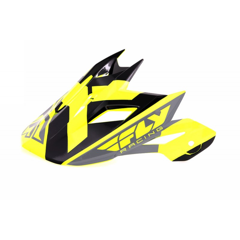 Fly Racing Default Helmschild hi-vis-schwarz