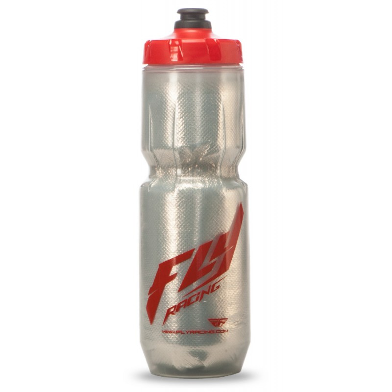 Fly Racing Flasche Elite silber-rot 0.680l