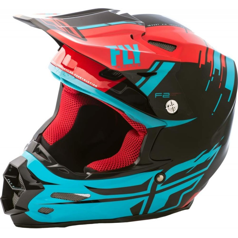 Fly Racing Helm F2 Carbon Mips Forge rot-blau-schwarz