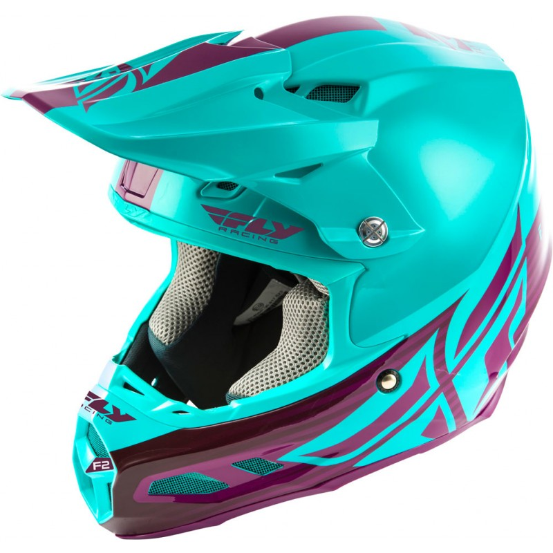 Fly Racing Helm F2 Carbon Mips Shield seafoam-port