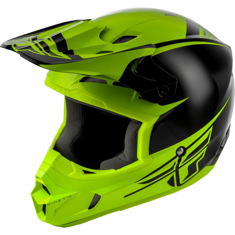 Fly Racing Helm Kinetic Sharp schwarz-hi-vis