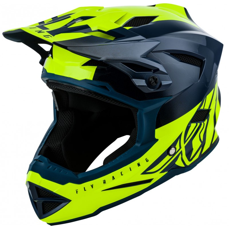 Fly Racing Helm MTB Default Kids teal-hi-vis gelb