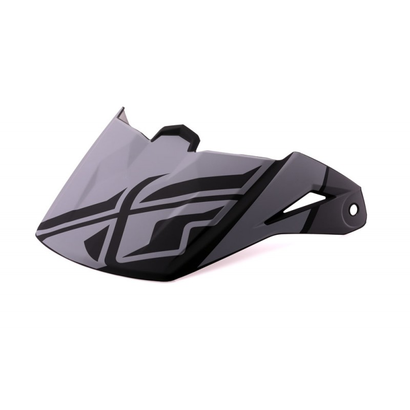 Fly Racing Helmschild Elite Guild grau-schwarz