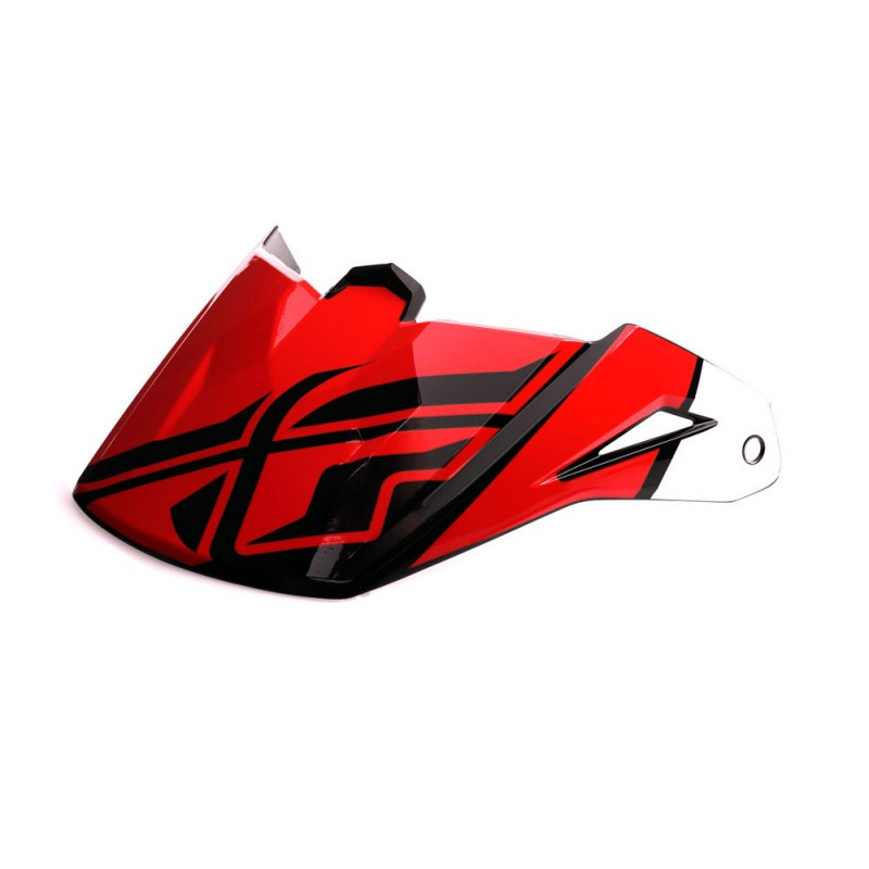 Fly Racing Helmschild Elite Guild rot-weiß-schwarz