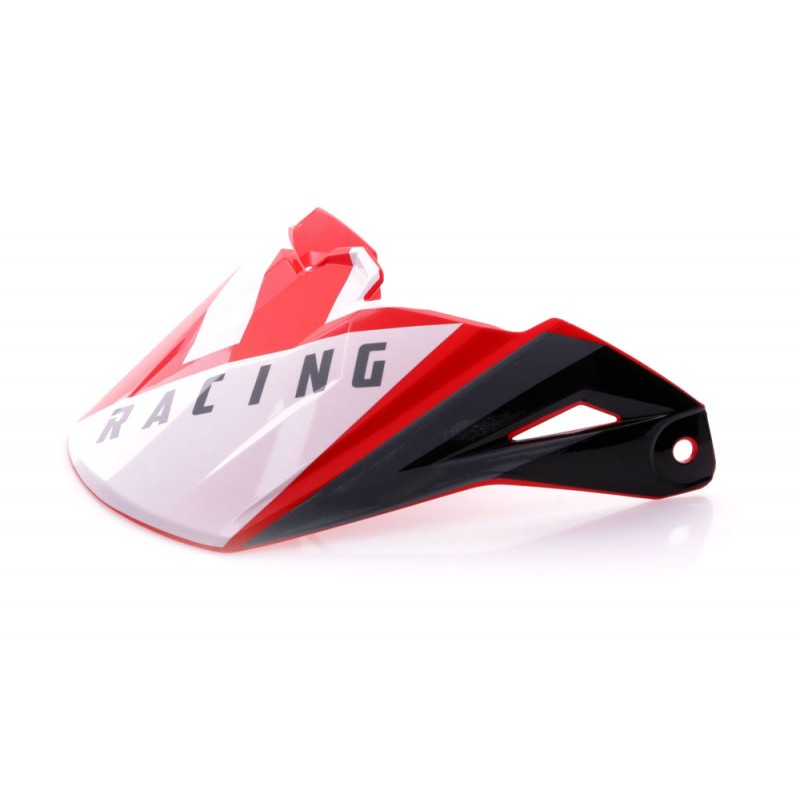 Fly Racing Helmschild Elite Vigilant rot-schwarz