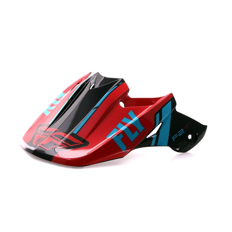 Fly Racing Helmschild F2 Forge Mips rot-blau