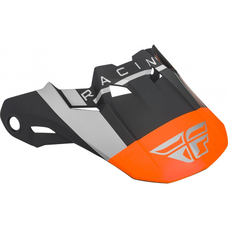 Fly Racing Helmschild Formula Vector matt-orange-grau-sw
