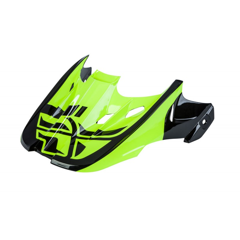 Fly Racing Helmschild Kinetic Sharp schwarz-hi-vis
