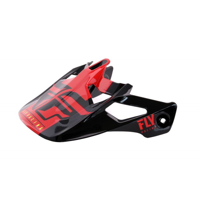 Fly Racing Helmschild Werx Imprint schwarz-rot