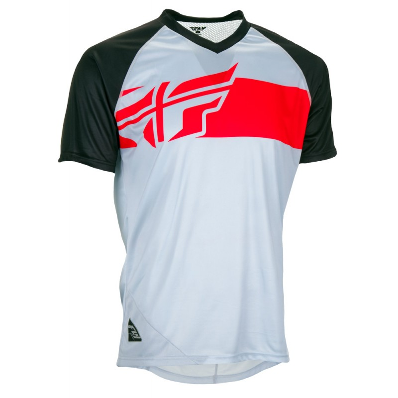 Fly Racing Hemd Action Elite MTB/BMX grau-rot-schwarz