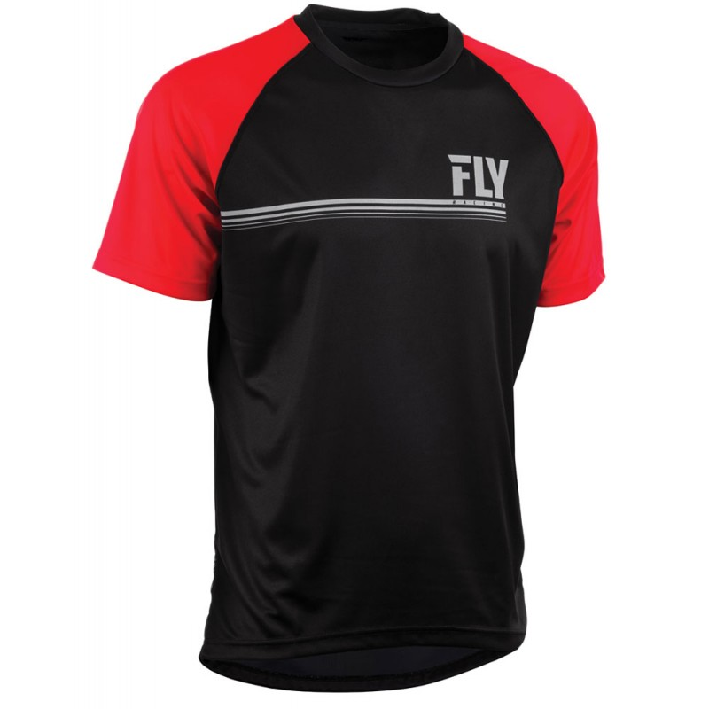 Fly Racing Hemd Action schwarz-rot