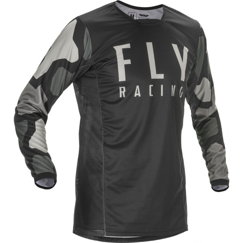 Fly Racing Hemd Kinetic K221 Kids schwarz-grau
