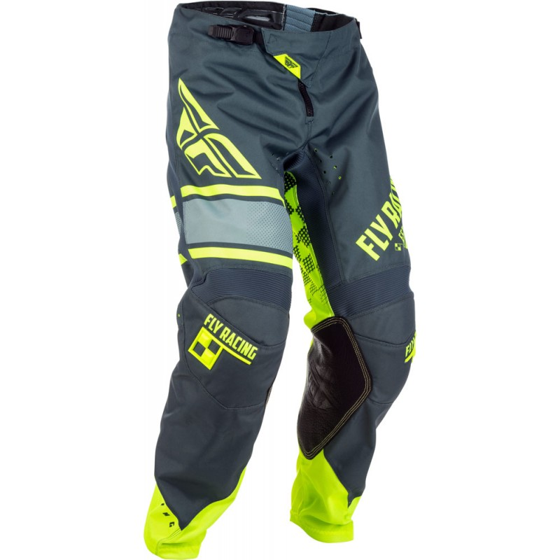 Fly Racing Hose Kinetic Era Kids grau-hi-vis