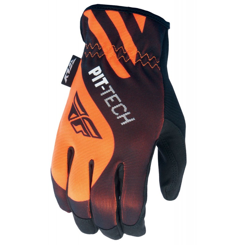 Fly Racing Pit Tech Handschuhe orange-schwarz