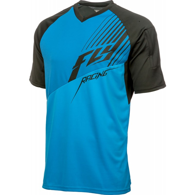 Fly Racing Shirt Action Elite schwarz-blau